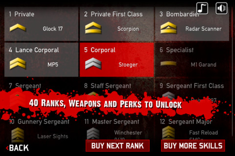 ranks, weapons and upgrades