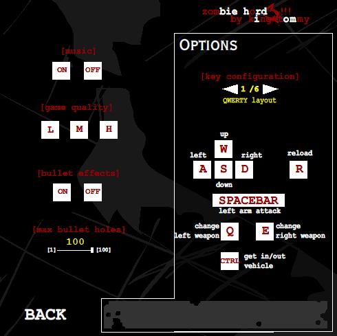 Zombie Horde 3 Controls